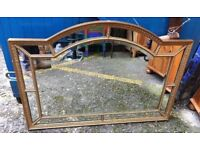 Large Gold Shapely Mirror