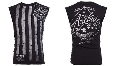 Archaic Affliction Mens T Shirt Sleeveless Tattoo Fight Biker Gym Mma Ufc  40 S