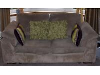 *LOVELY* LARGE TWO SEATER SOFA IN NUTMEG /TAUPE COLOUR