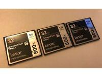 Camera Compact Flash Lexar Professional 32GB 800X (120MB/s)