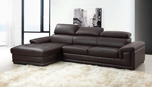 Tivoli 3 Seater with Chaise Leather Lounge adjustable head rests Punchbowl Canterbury Area Preview