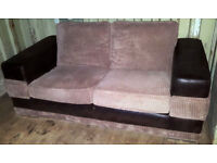 2 Seater Sofa Beige/Brown. Local delivery available