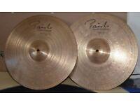 paiste signature innovation hi hat cymbals,used