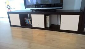 Ikea Kallax TV unit with white drawers and cabinets - excellent condition