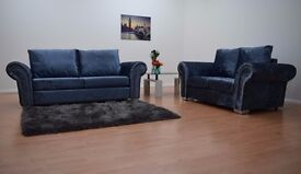Sophie Velvet Sofa **Home Delivery Available**