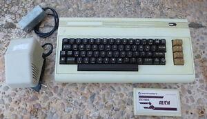 Ordenador-8-bits-Commodore-VIC-20-Alimentador-Modulador-UHF-y-Cartucho-ALIEN