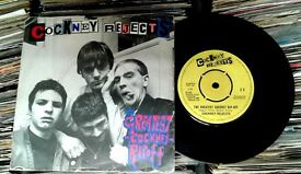 Cockney Rejects ‎– The Greatest Cockney Rip-off, G, released on EMI in 1980, Oi Punk Vinyl Record