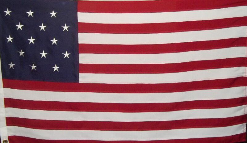 STAR SPANGLED FLAG - 600 D OUTDOOR HEAVY DUTY 1812 WAR - USA HISTORICAL PATRIOT