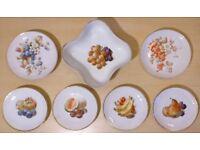Vintage Bavari German Fine China Fruit Plates