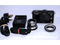 Panasonic Lumix GF2 + Manual Lens and Adaptor