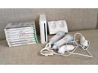 Wii console bundle plus 8 games