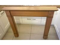 Oak Effect Fireplace Surround. Excellent Condition or Could be a Chabby Chic Project