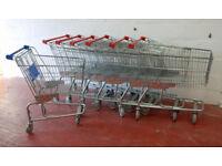 Retail Shopping Trolleys x 7 - For Shop - Buko Metal Shop Trolleys