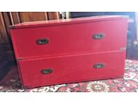 Small Retro Red Chest Of Two Drawers - Bedroom - Storage