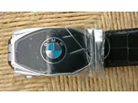 Mens Brand New BMWLogo Belt- Free UK shipping.