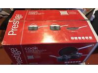 Prestige 3 piece pan set