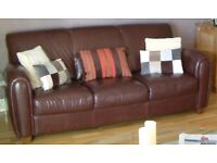 3-seat (2 metre wide) leather sofa - free for collection.
