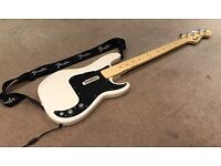 Rock Band Xbox 360 Fender Precision Bass Replica and Stratocaster Guitar Controllers