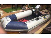 Zodiac Inflatable Boat FREE DELIVERY Rib Dinghy Avon Fishing Sailing Tender Mercury Outboard Motor