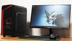 Quad Core Intel Gaming Desktop Computer PC Nvidia GTX 1050ti 8GB Ram 1TB HDD WiFi Windows 10