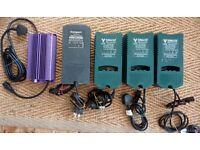 Hydroponics Power Packs (x4) 600w MH/HPS and Ballast (x1) Sunmaster Grow Light