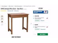 Desk - oak effect, unused, still flat packed in box
