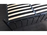 Feather and Black King Size Bed Frame .