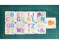 Cuttlebug alphabet metal cutting dies for die cutting machines cardmaking scrapbooking