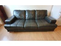 3 seat Leather Sofa - Mocha Brown