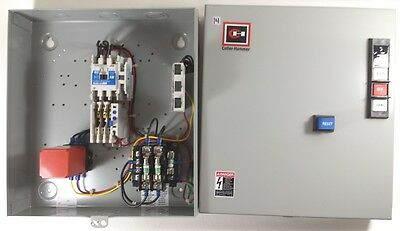 Cutler-H ECN0701EHA SIZE 0 3P ENCLOSED MAGNETIC MOTOR STARTER+XFRMR+258B MONITOR