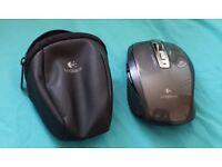 Logitech MX Anywhere mouse (darkfield) with case