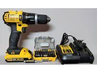 Dewalt DCD785N 18v XR Li-ion Drill With Extras