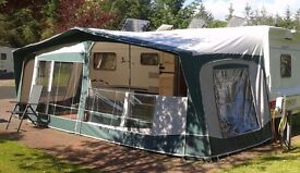 Bradcot Residencia Green size 1050 with Steele poles, curtains, straps etc £350