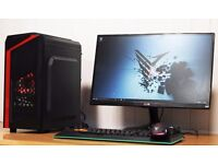 FAST Best Performance Quad Core Gaming PC Desktop Tower Windows 10 NVIDIA GTX Graphics