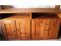Solid pine sideboard unit.