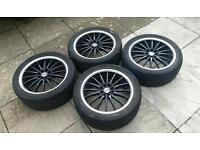 """Dynamics 17"""" alloy wheels black"""