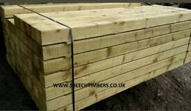 100 x 100mm x 3m Incised Pressure Treated Fence Posts