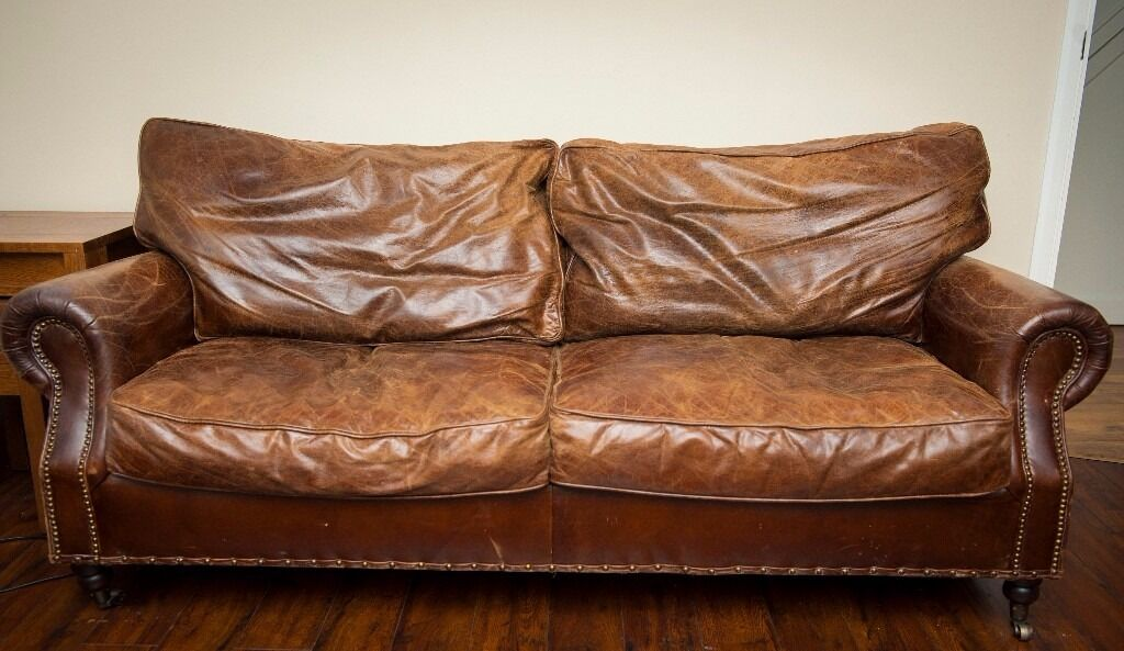 Merveilleux Vintage Leather Sofa (two 3 Seaters) REDUCED!👍🏼