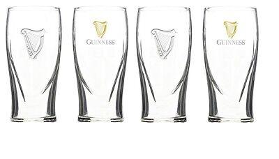 Guinness Beer Glasses - Guinness Irish Pint Beer Glasses 16oz Set of 4 291611