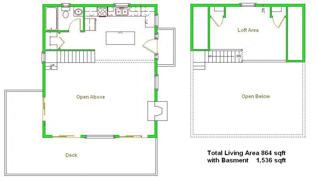 Cabin floor plans 24x28 joy studio design gallery best for 24x28 floor plans