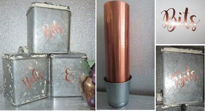 Copper Stickers, Glass Jar Labels Tea, Coffee, Sugar, Biscuits Tin/Canister/Jar  - Copper Stickers