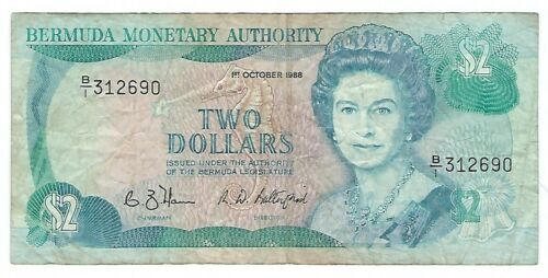 Bermuda - Two (2) Dollars, 1988