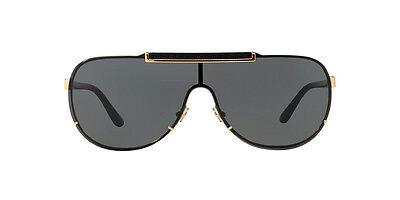 Versace Men's VE2140-100287-40 Gold Aviator Sunglasses VE  2140 1002/87 (Mens Versace Sunglasses)