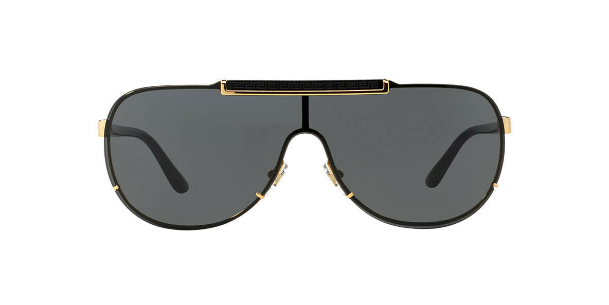 Versace Men's VE2140-100287-40 Gold Aviator Sunglasses VE