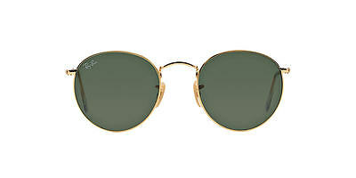 Ray Ban RB3447 001 50 Gold Frame Green Classic G 15 Round Lens 50MM Sunglasses