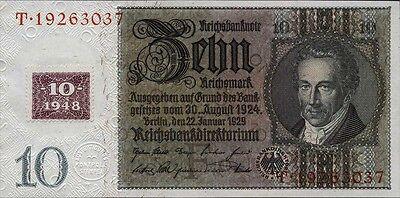 Ro.334a 10 DM 1948 Kuponausgabe (1)