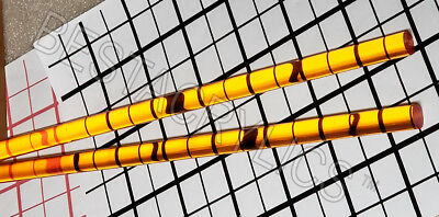 2 Clear Amber 12 Diameter 12 Inch Long Acrylic Plexiglass Lucite Color Rod