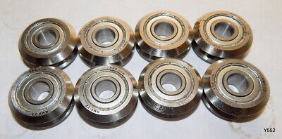 8 Pack 38 V-groove Shielded Guide Ball Bearings Rm2-zz
