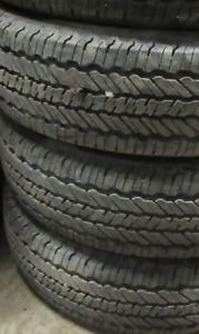 Used Tires. LT225+75+17 INCH $550/4 TIRES (((85-90%TREAD))) Chec
