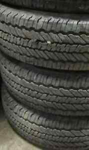 Used Tires. LT225+75+17 INCH $550/4 TIRES (((85-90%TREAD)))